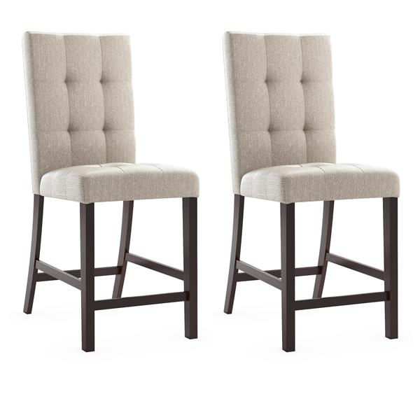 CorLiving Cappuccino 18-in X 43-in Dining Chairs Set of 2