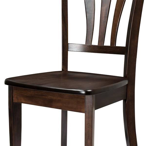 CorLiving Brown and 17-in X 36-in Dining Chairs Set of 2