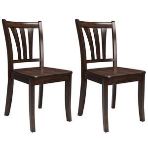 Chaises avec dossier à lattes CorLiving, cappuccino, 2 mcx