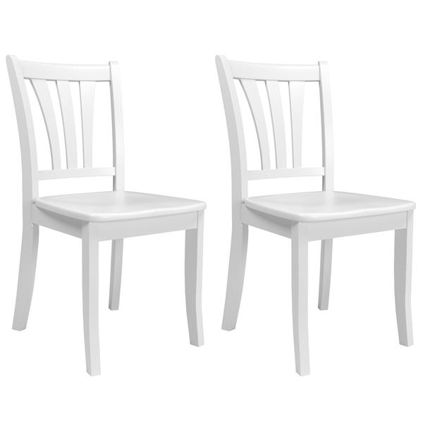 CorLiving White and 17-in X 36-in Dining Chairs Set of 2