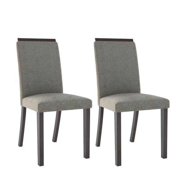 CorLiving Pewte Gray 18-in X 39-in Dining Chairs (Set of 2)
