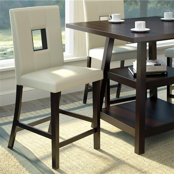 CorLiving White 18-in X 43-in Dining Chairs Set of 2