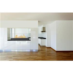 Foyer éthanol Vision III, acier inoxydable, noir mat