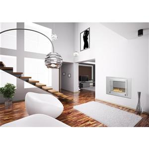 Montreal 2-Sided Fireplace - Stainless Steel - Gray