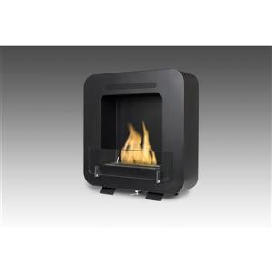 Cosy Wall Mounted Ethanol Fireplace - Steel - Matte Black
