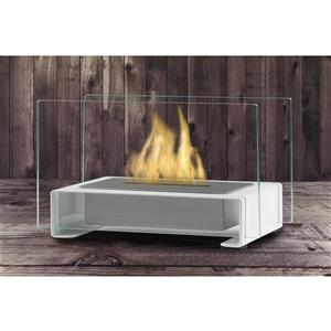 Eco-Feu Gloss White Toulouse Tabletop Fire Feature