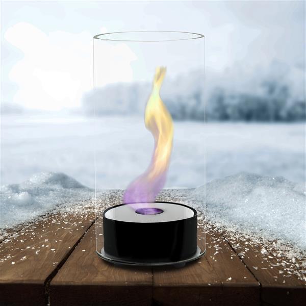Juliette Tabletop Fire Feature - Gloss Black