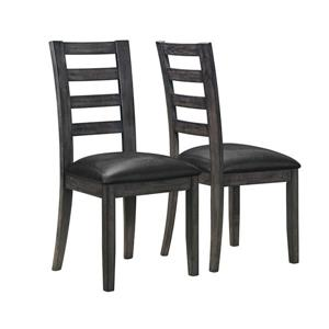 Monarch Specialties Charcoal Grey Side Dining Chair (Set of 2)