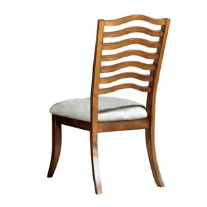 Monarch Specialties Beige Ladder Back Fabric Dining Side Chair (Set of 2)