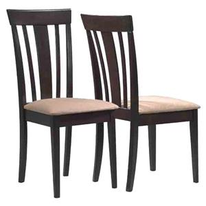 Monarch  Cappuccino Dining Chair (Set of 2)