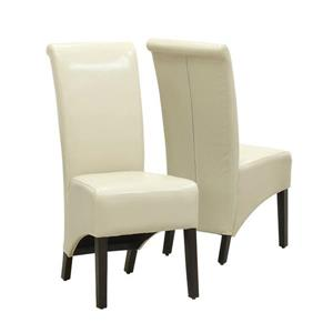 Monarch Specialties Cream Faux Leather Dining Chair (Set of 2)