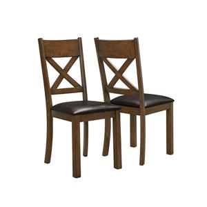 Monarch Specialties Walnut Dining Chair (Set of 2)