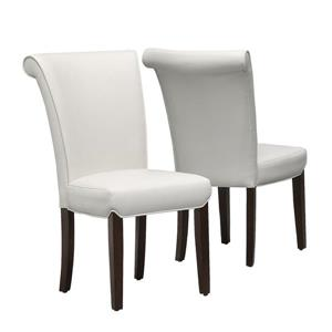 Monarch  Light Taupe Faux Leather Dining Chair (Set of 2)