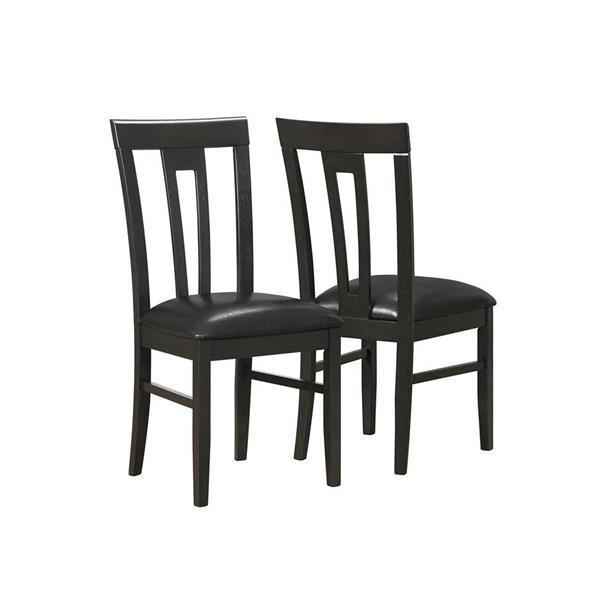 """Chaises de cuisine Monarch, 39"""", brun, ens. de 2"""