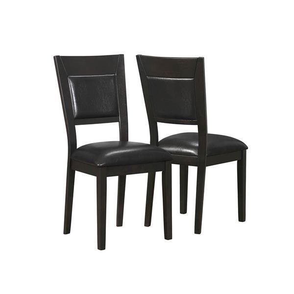 """Chaises de cuisine Monarch, 39"""", brun foncé, ens. de 2"""