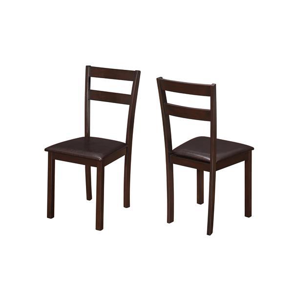 Monarch  Dark Brown Dining Chair (Set of 2)