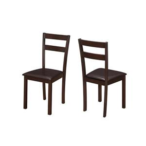 Monarch Specialties Dark Brown Dining Chair (Set of 2)