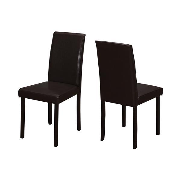 """Chaises de cuisine Monarch, 36"""", brun foncé, ens. de 2"""