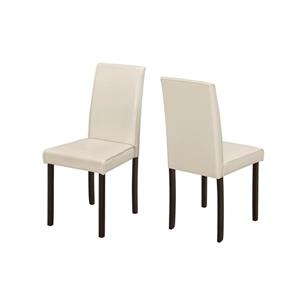 Monarch Specialties Ivory Faux Leather Dining Chair (Set of 2)