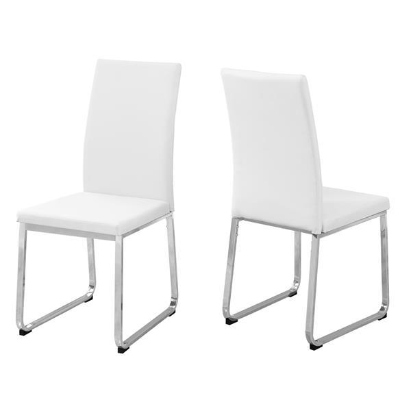 """Chaises de cuisine Monarch, 38"""", blanc, ens. de 2"""