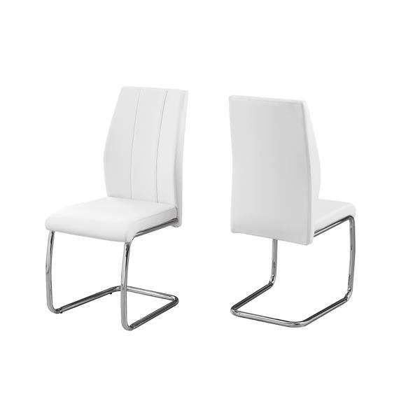 """Chaises de cuisine Monarch, 39"""", blanc, ens. de 2"""