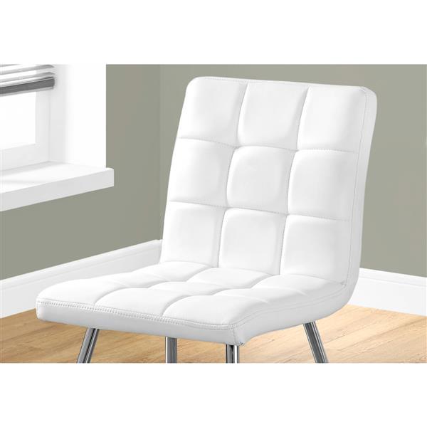 """Chaises de cuisine Monarch, 32"""", blanc, ens. de 2"""