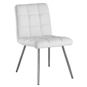 Monarch  White Faux Leather Dining Chair (Set of 2)