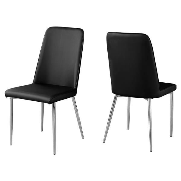 Monarch Dining Chairs - 37-in - Black - Set of 2