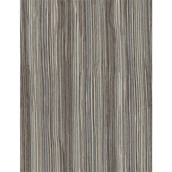 Sun Glow 69-in x 72-in Motorized Textured Brown Roller Shade With Valance