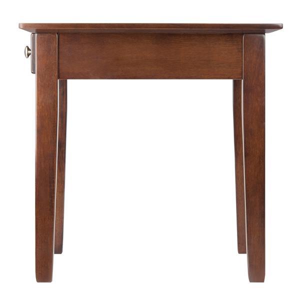 """Table Rochester, 20"""" x 20"""", bois, noyer"""