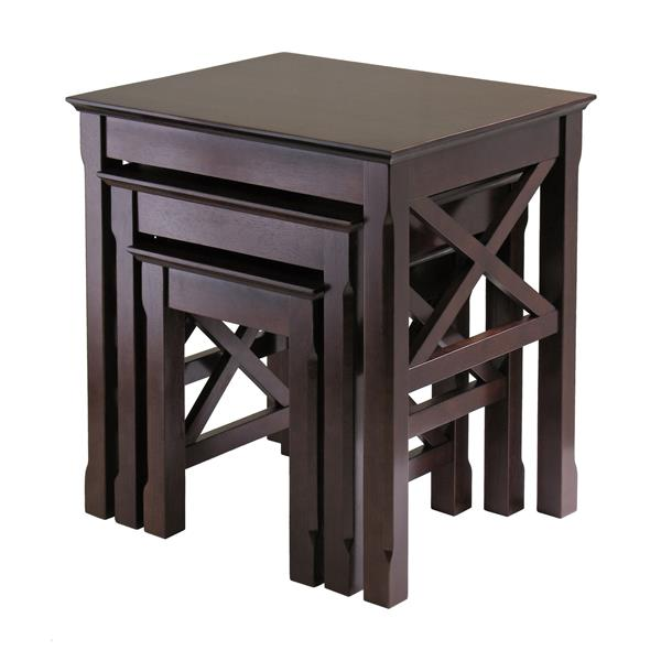 Winsome Wood Xola 21.1-in x 22.13-in Cappuccino Wood Table