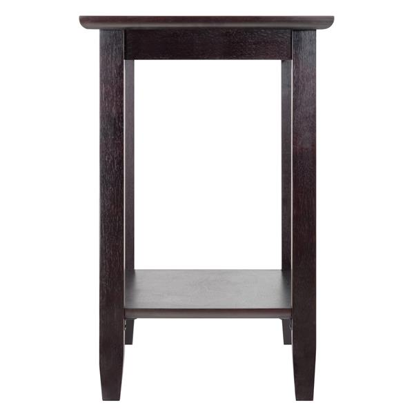 Winsome Wood Genoa 23.94-in x 16.3-in x 25.04-in Espresso Wood Table