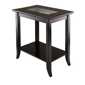 """Table Genoa, 23,94"""" x 25,04"""", bois, espresso"""