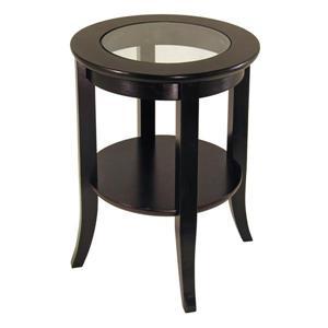 """Table Genoa, 18,47"""" x 22,56"""", bois, espresso"""