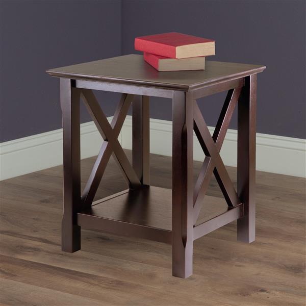 "Table Xola, 20"" x 21,97"", bois, cappuccino"