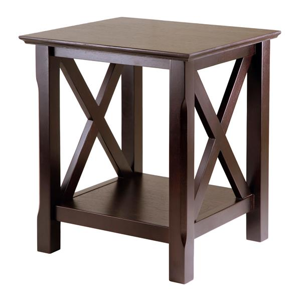 Winsome Wood Xola 21-in x 21.97-in Cappuccino Wood Table