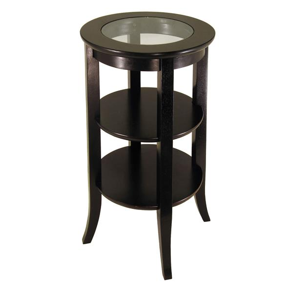 Winsome Wood Genoa 18.5-in x 18.5-in x 30.19-in Espresso Wood Table
