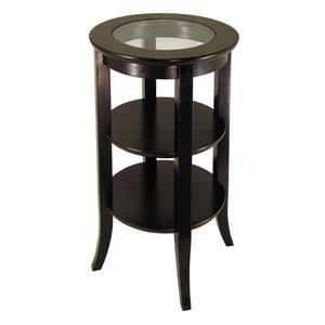 """Table Genoa, 18,5"""" x 30,19"""", bois, espresso"""