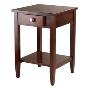 "Table Richmond, 17,95"" x 25,98"", bois, noyer"