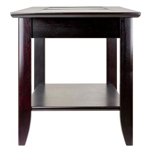 "Table Syrah, 22,6"" x 24"", bois, espresso"