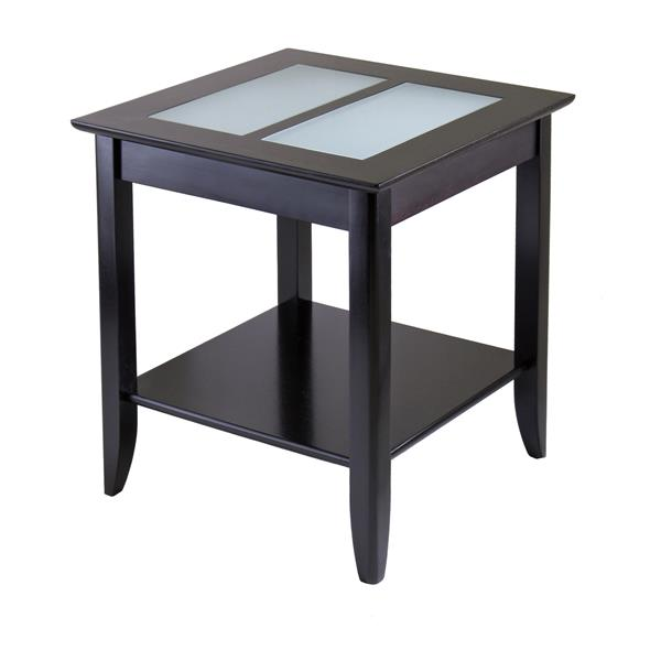 Winsome Wood Syrah 22.6-in x 24-in Espresso Wood Table