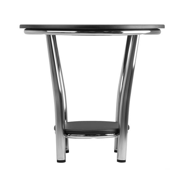 Winsome Wood Maya 23.82-in x 22.05-in Black Metal Table