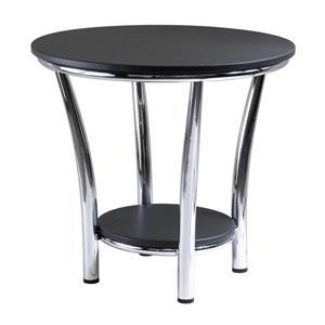 """Table Maya, 23,82"""" x 22,05"""", métal, noir"""
