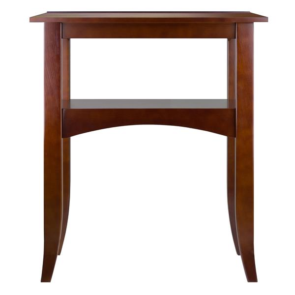 """Table Crafts, 22,4"""" x 25,9"""", bois, noyer"""