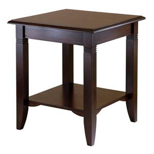 Winsome Wood Nolan 20-in x 21.97-in Cappuccino Wood Table