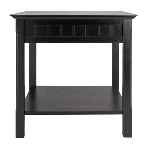 """Table Timber, 21,97"""" x 21,97"""", bois, noir"""