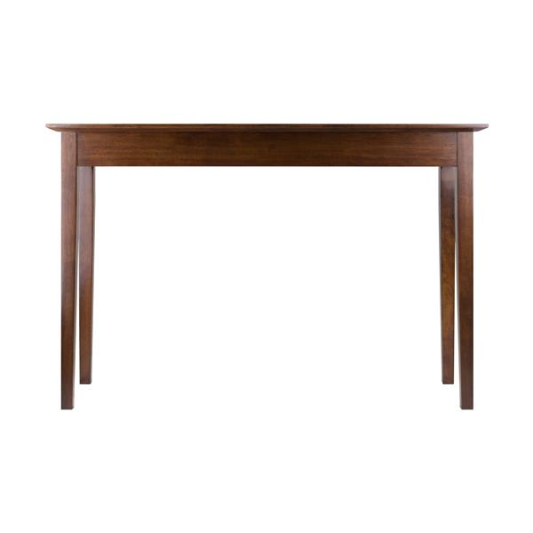Winsome Wood Rochester 28.66-in x 44-in Walnut Antique Table