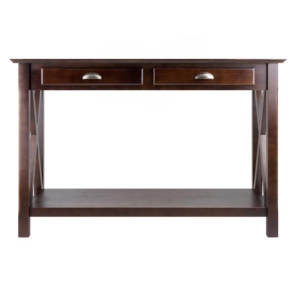 Winsome Wood Xola 52.91-in x 45-in Cappuccino Wood Table