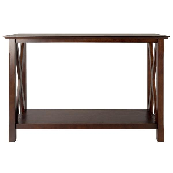 Winsome Wood Xola 37.48-in x 45-in Cappuccino Wood Table