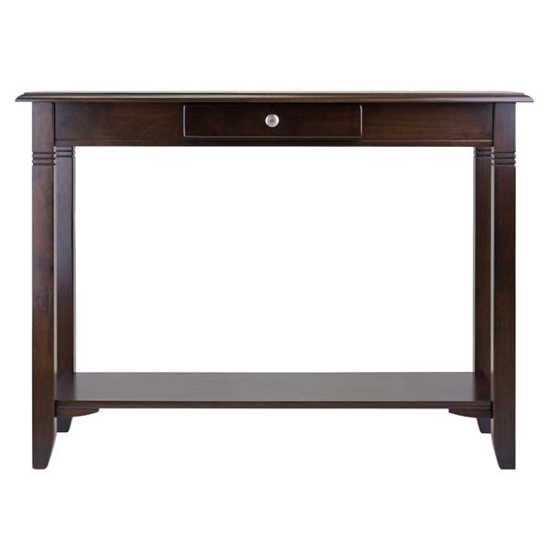 Winsome Wood Nolan 36.38-in x 40-in Cappuccino Wood Table